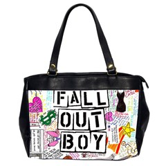 Fall Out Boy Lyric Art Office Handbags (2 Sides)  by Onesevenart