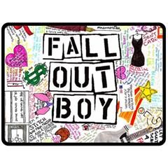 Fall Out Boy Lyric Art Fleece Blanket (large)  by Onesevenart