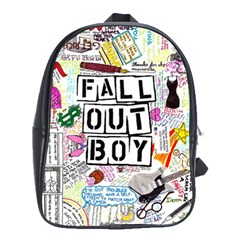 Fall Out Boy Lyric Art School Bags (xl)  by Onesevenart