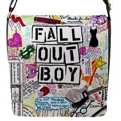 Fall Out Boy Lyric Art Flap Messenger Bag (s) by Onesevenart