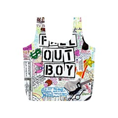 Fall Out Boy Lyric Art Full Print Recycle Bags (s)  by Onesevenart