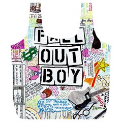 Fall Out Boy Lyric Art Full Print Recycle Bags (l)  by Onesevenart
