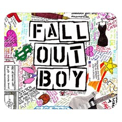 Fall Out Boy Lyric Art Double Sided Flano Blanket (small)  by Onesevenart