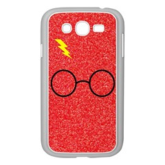 Glasses And Lightning Glitter Samsung Galaxy Grand Duos I9082 Case (white) by Onesevenart