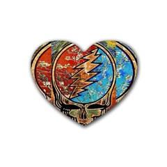 Grateful Dead Rock Band Heart Coaster (4 Pack)  by Onesevenart