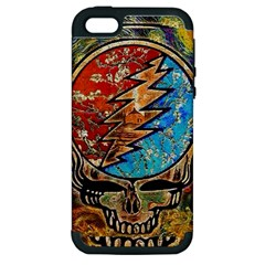 Grateful Dead Rock Band Apple Iphone 5 Hardshell Case (pc+silicone) by Onesevenart