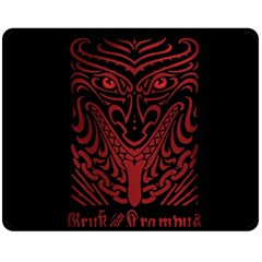 Gruss Vom Krampus Fleece Blanket (medium)  by Onesevenart