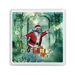 Funny Santa Claus In The Underwater World Memory Card Reader (square)  by FantasyWorld7