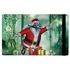 Funny Santa Claus In The Underwater World Apple Ipad 3/4 Flip Case by FantasyWorld7