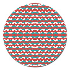 Geometric Waves Magnet 5  (round) by dflcprints