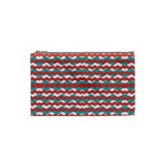 Geometric Waves Cosmetic Bag (small)  by dflcprints