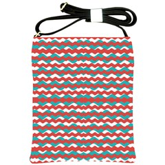 Geometric Waves Shoulder Sling Bags by dflcprints
