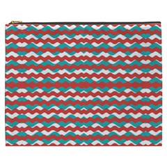 Geometric Waves Cosmetic Bag (xxxl)  by dflcprints