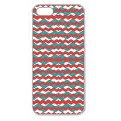 Geometric Waves Apple Seamless Iphone 5 Case (clear) by dflcprints