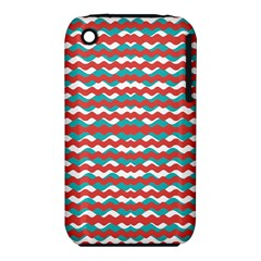 Geometric Waves Apple Iphone 3g/3gs Hardshell Case (pc+silicone) by dflcprints