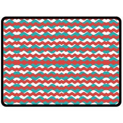 Geometric Waves Double Sided Fleece Blanket (large)  by dflcprints