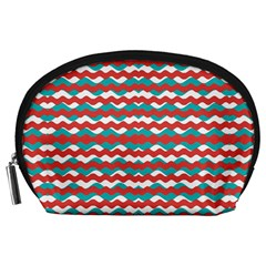Geometric Waves Accessory Pouches (large)  by dflcprints