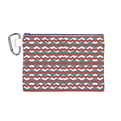 Geometric Waves Canvas Cosmetic Bag (m) by dflcprints
