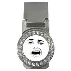 Scared Woman Expression Money Clips (cz)  by dflcprints