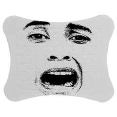 Scared Woman Expression Jigsaw Puzzle Photo Stand (Bow) by dflcprints