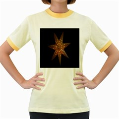Star Light Decoration Atmosphere Women s Fitted Ringer T-Shirts by Zeze