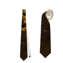 Awesome Dragon, Tribal Design Neckties (two Side)  by FantasyWorld7