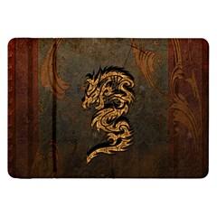Awesome Dragon, Tribal Design Samsung Galaxy Tab 8 9  P7300 Flip Case by FantasyWorld7