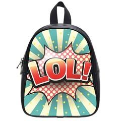 Lol Comic Speech Bubble Vector Illustration School Bags (small)  by Onesevenart