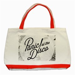 Panic At The Disco Flowers Classic Tote Bag (red) by Onesevenart