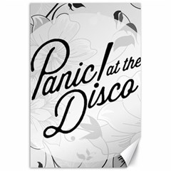 Panic At The Disco Flowers Canvas 24  X 36  by Onesevenart