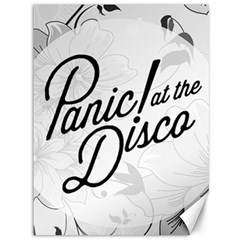 Panic At The Disco Flowers Canvas 36  X 48   by Onesevenart