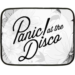 Panic At The Disco Flowers Double Sided Fleece Blanket (mini)  by Onesevenart