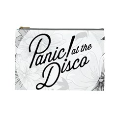 Panic At The Disco Flowers Cosmetic Bag (large)  by Onesevenart
