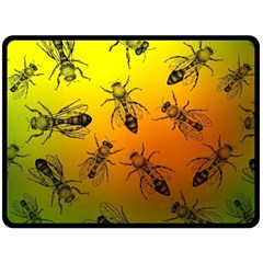 Insect Pattern Double Sided Fleece Blanket (large)  by Onesevenart