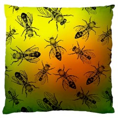 Insect Pattern Standard Flano Cushion Case (one Side) by Onesevenart