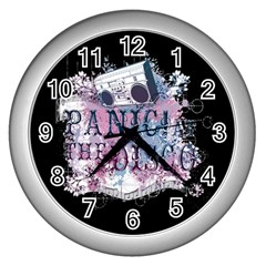 Panic At The Disco Art Wall Clocks (silver)  by Onesevenart