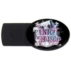 Panic At The Disco Art Usb Flash Drive Oval (4 Gb)  by Onesevenart