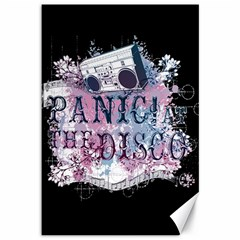 Panic At The Disco Art Canvas 12  X 18   by Onesevenart