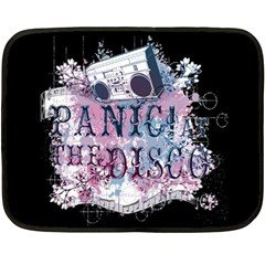 Panic At The Disco Art Fleece Blanket (mini) by Onesevenart