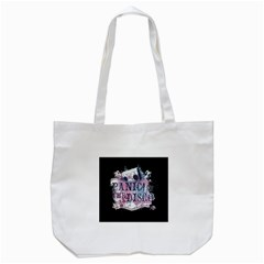 Panic At The Disco Art Tote Bag (white) by Onesevenart