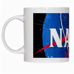 Nasa Logo White Mugs by Onesevenart