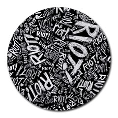 Panic At The Disco Lyric Quotes Retina Ready Round Mousepads by Onesevenart