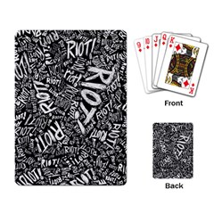 Panic At The Disco Lyric Quotes Retina Ready Playing Card by Onesevenart