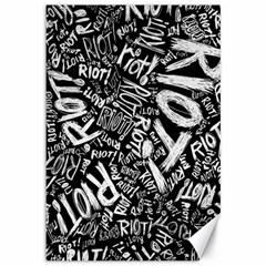 Panic At The Disco Lyric Quotes Retina Ready Canvas 12  X 18   by Onesevenart