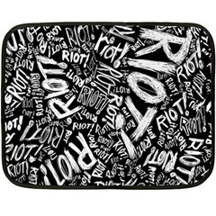 Panic At The Disco Lyric Quotes Retina Ready Double Sided Fleece Blanket (mini)  by Onesevenart