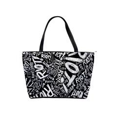 Panic At The Disco Lyric Quotes Retina Ready Shoulder Handbags by Onesevenart