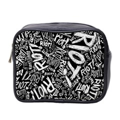 Panic At The Disco Lyric Quotes Retina Ready Mini Toiletries Bag 2 Side by Onesevenart