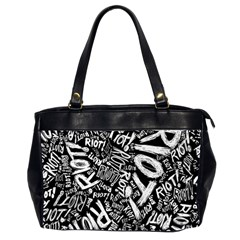 Panic At The Disco Lyric Quotes Retina Ready Office Handbags (2 Sides)  by Onesevenart