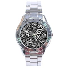 Panic At The Disco Lyric Quotes Retina Ready Stainless Steel Analogue Watch by Onesevenart
