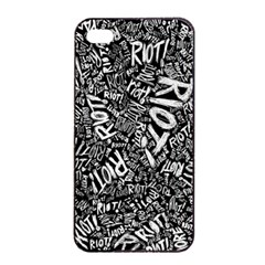 Panic At The Disco Lyric Quotes Retina Ready Apple Iphone 4/4s Seamless Case (black) by Onesevenart